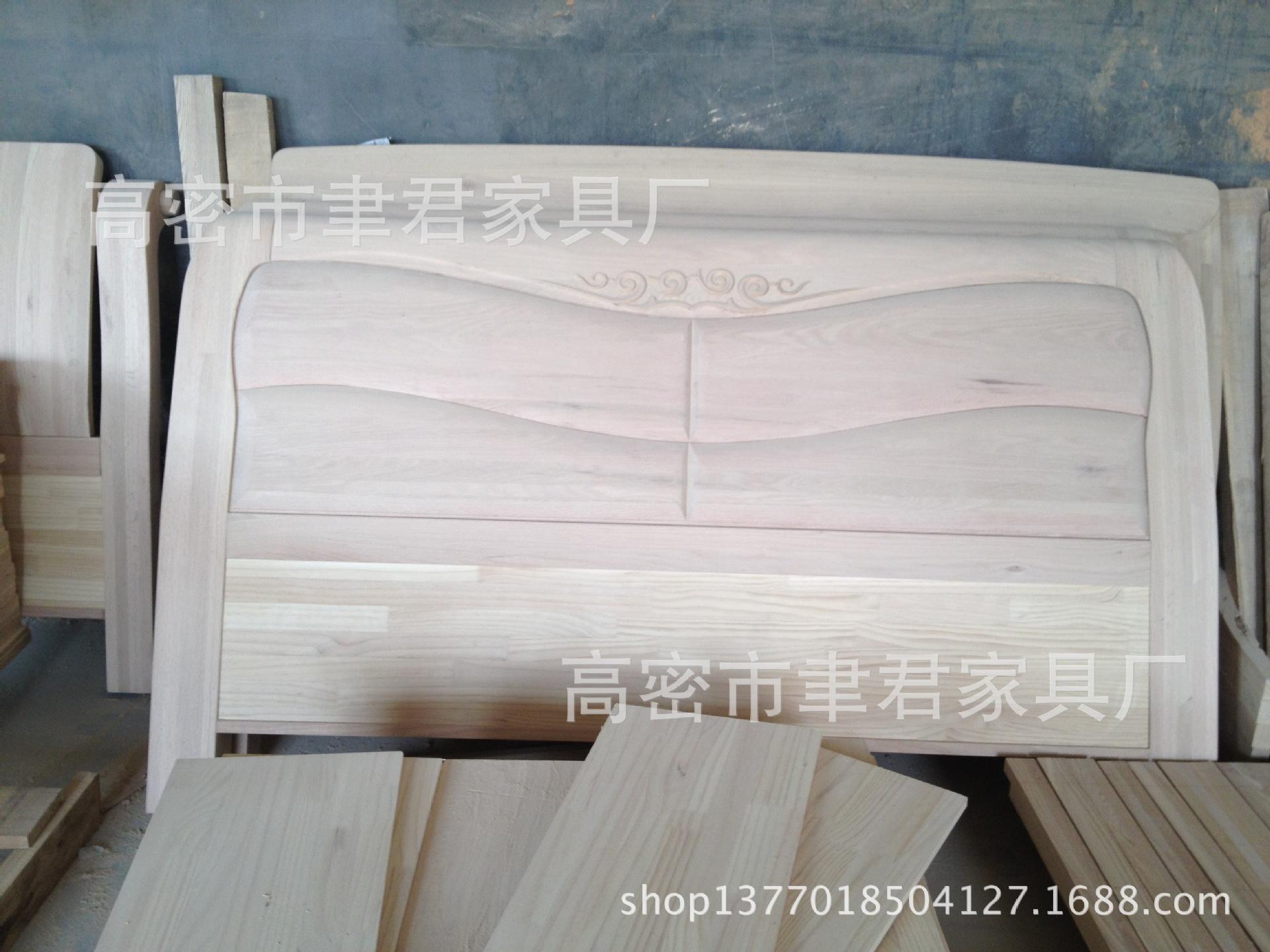 【107号红橡白茬厂家高档实木家具床头大城家具城图片