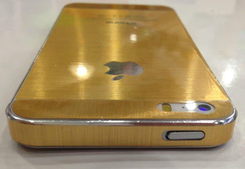 【iphone5S苹果金前后土豪膜金色5S黄手机保华为信息锁屏后微信收不到手机吗图片