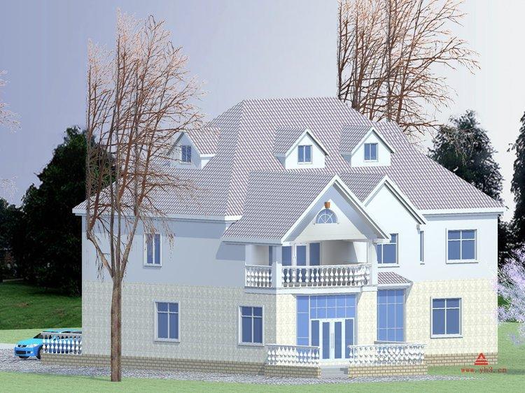 南宁现代农村别墅设计图 桂林自建房屋设计 广西私人房子设计图纸