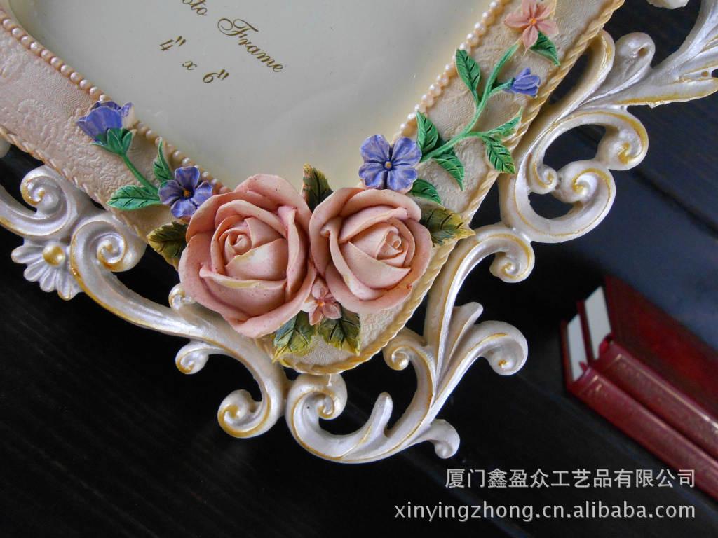 相架-欧式田园镂空雕刻玫瑰花图片