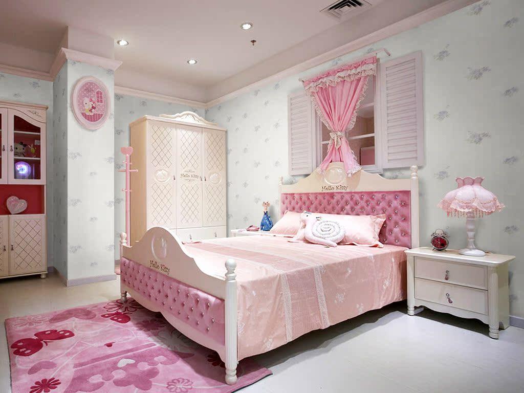 款欧式田园风格高档无纺布立体植绒墙纸卧室客