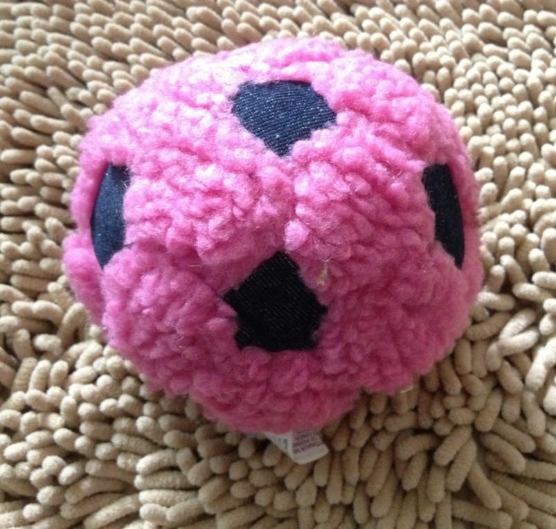【毛绒绒发声小足球玩具 多色入 狗狗玩具博美