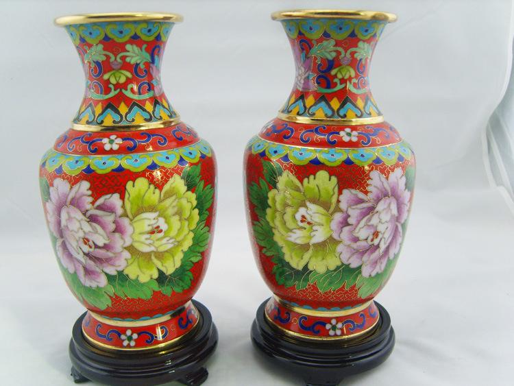 景泰藍八寸金龍花瓶高檔禮品家居擺設掐絲琺琅銅胎