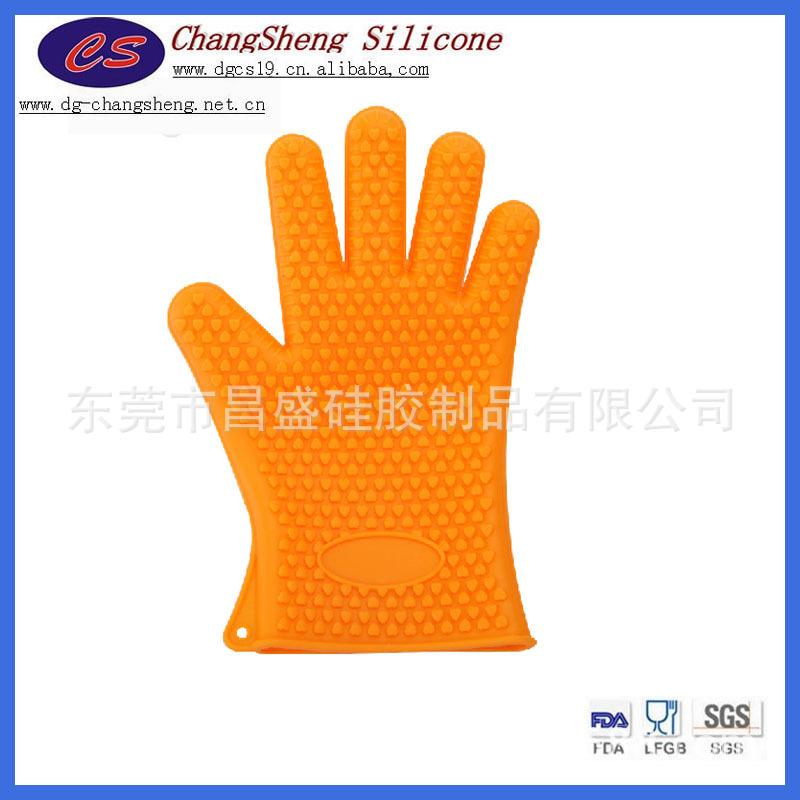 【免模具费】硅胶五指手套 硅胶微波炉手套 远销欧美