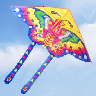 蝴蝶风筝包邮/潍坊儿童风筝/大型立体风筝三角微风舞蹈风筝