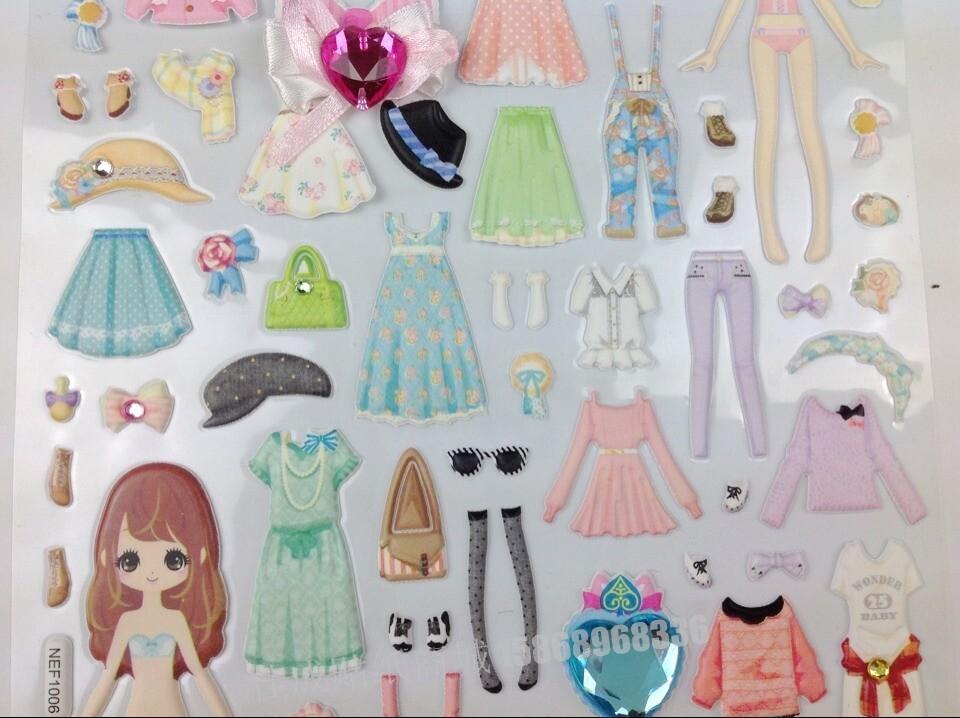 通换装 贴纸 儿童穿 衣服 贴画手工早教玩具儿