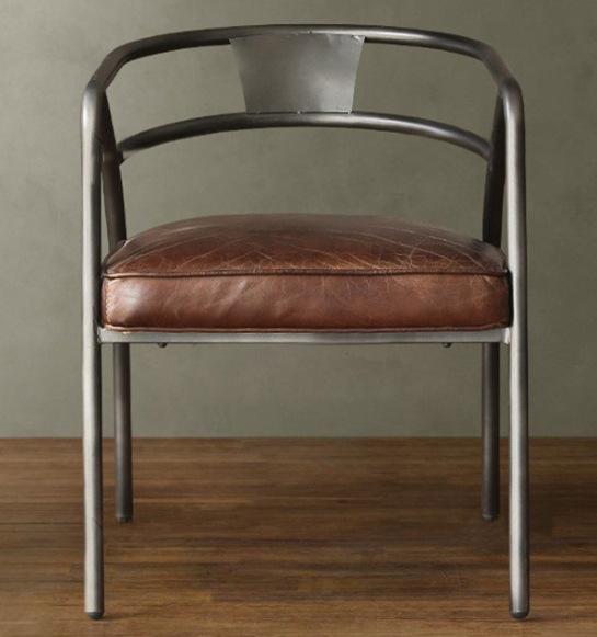 北歐美式鄉村復古鐵藝餐椅咖啡椅做舊金屬餐椅仿古辦公椅電腦椅