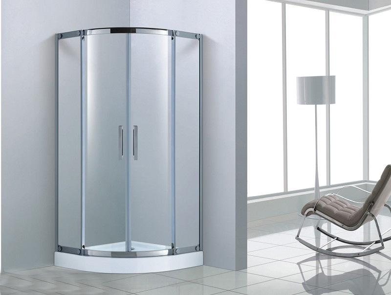 扇形淋浴房 304不锈钢8mm钢化玻璃淋浴房