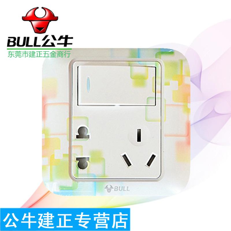 公牛正品墙壁开关插座 单相 二三插带 双控 开关G图片