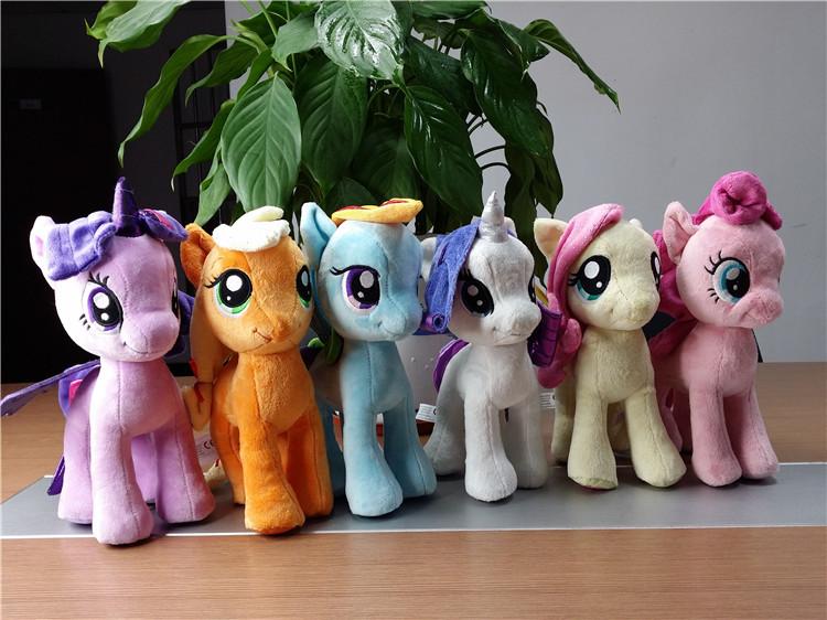 热销外贸玩具 my little pony 小马宝莉 我的小马驹公仔玩偶25cm图片