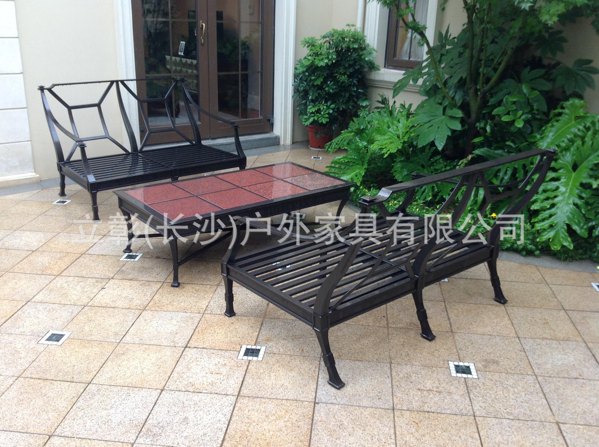厂家批发金属户外家具铸铝桌椅 室外休闲桌椅茶几 可定做