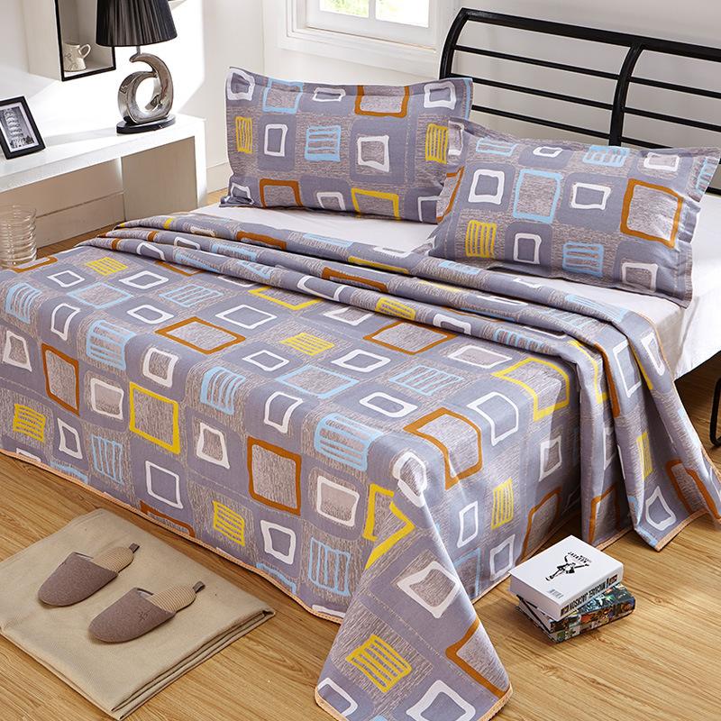 特价销售 老粗布床单三件套 加厚老粗布床单 花型齐全