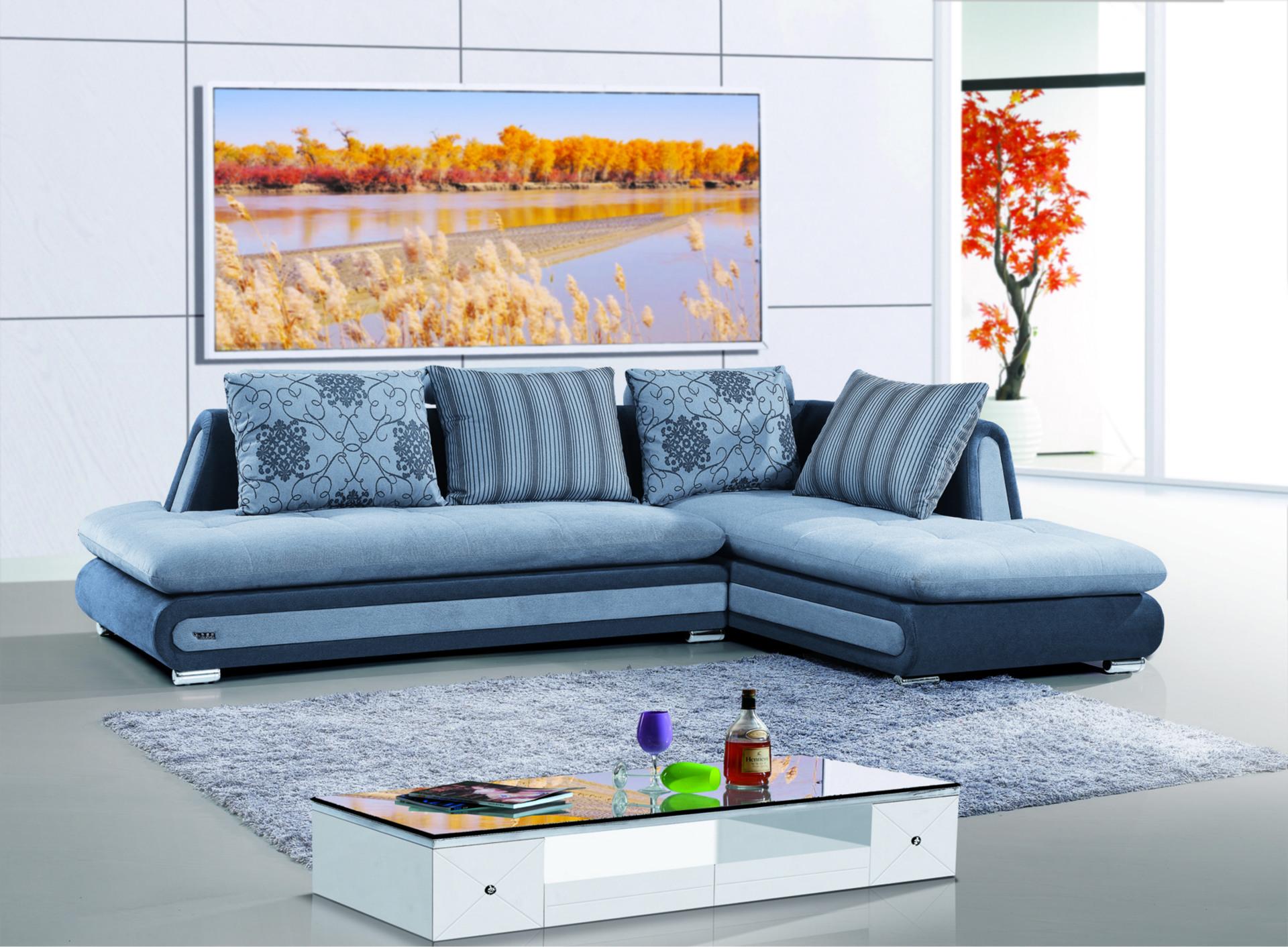 京禧 布艺沙发 客厅转角沙发组合 特价