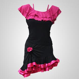 儿童拉丁舞表演服装演出拉丁舞裙女服装练功练习服