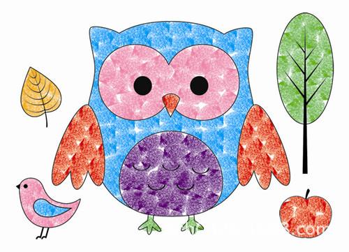 批发儿童手指画印泥画小号8张 幼儿园diy六一礼物 新款玩具礼品图片