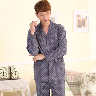 Pajamas male new autumn household to take Long-sleeved casual leisurewear lapels men's suits