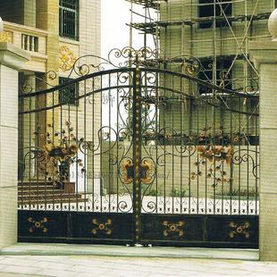 欧式复古风格别墅铁艺大门 现代时尚潮流雕花庭院大门 批发供应
