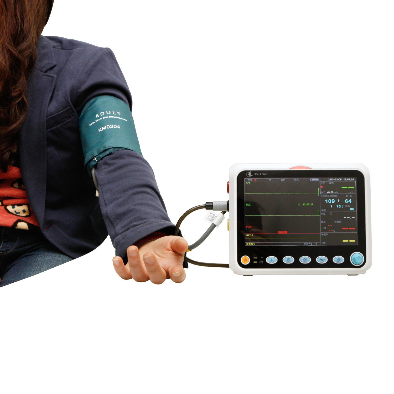 力康监护仪 多参数 彩屏 心电 无创血压 呼吸 体温 脉博氧饱和度