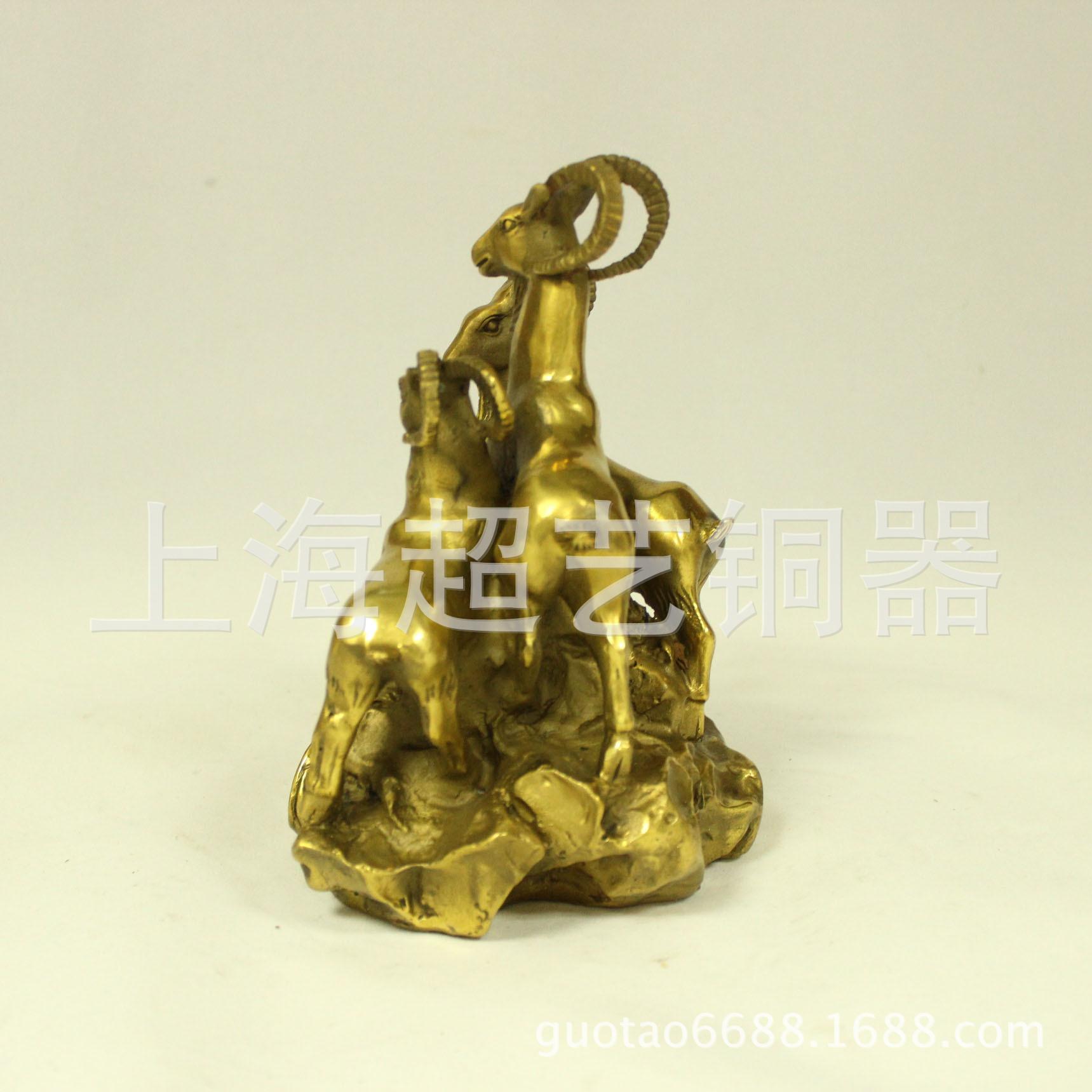 开光纯铜三阳开泰三羊开泰摆件金属工艺品风水家居饰品铜器批发 -价