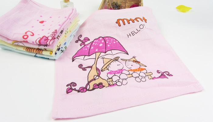 纱布印花小方巾12