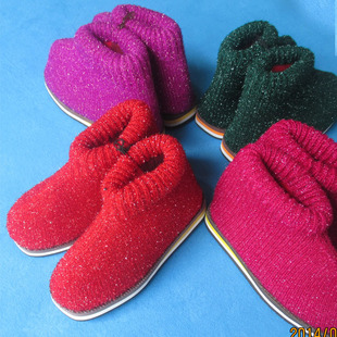 ... 毛线 棉 拖鞋 冬季高邦加厚棉 拖鞋 #毛线钩拖鞋图片