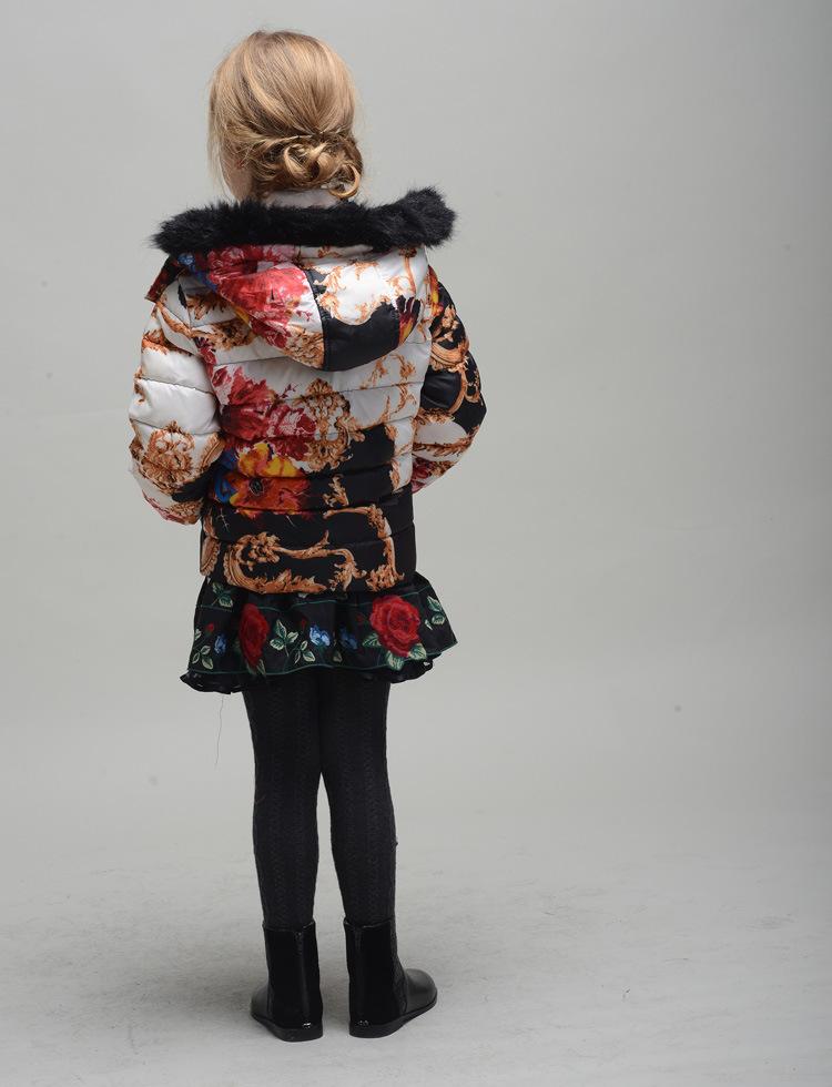 New Children Monsoon Down Coat Winter Outwear Girls Down Jackets
