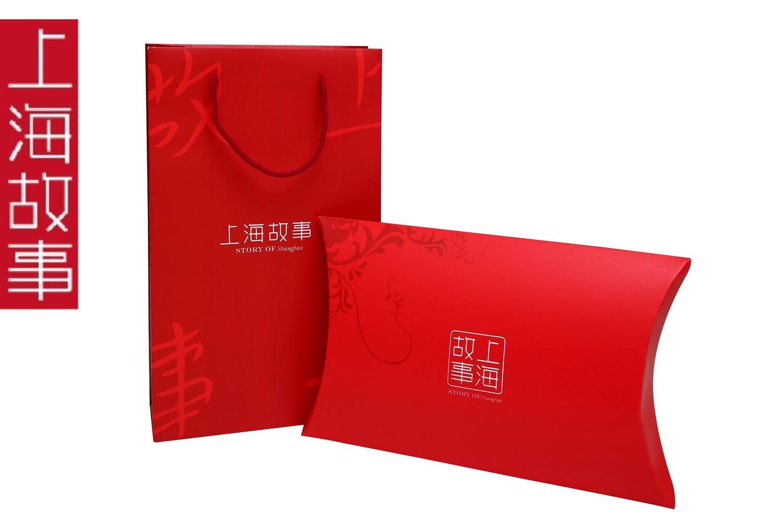 上海故事丝巾围巾礼品包装盒礼盒礼袋2件套批