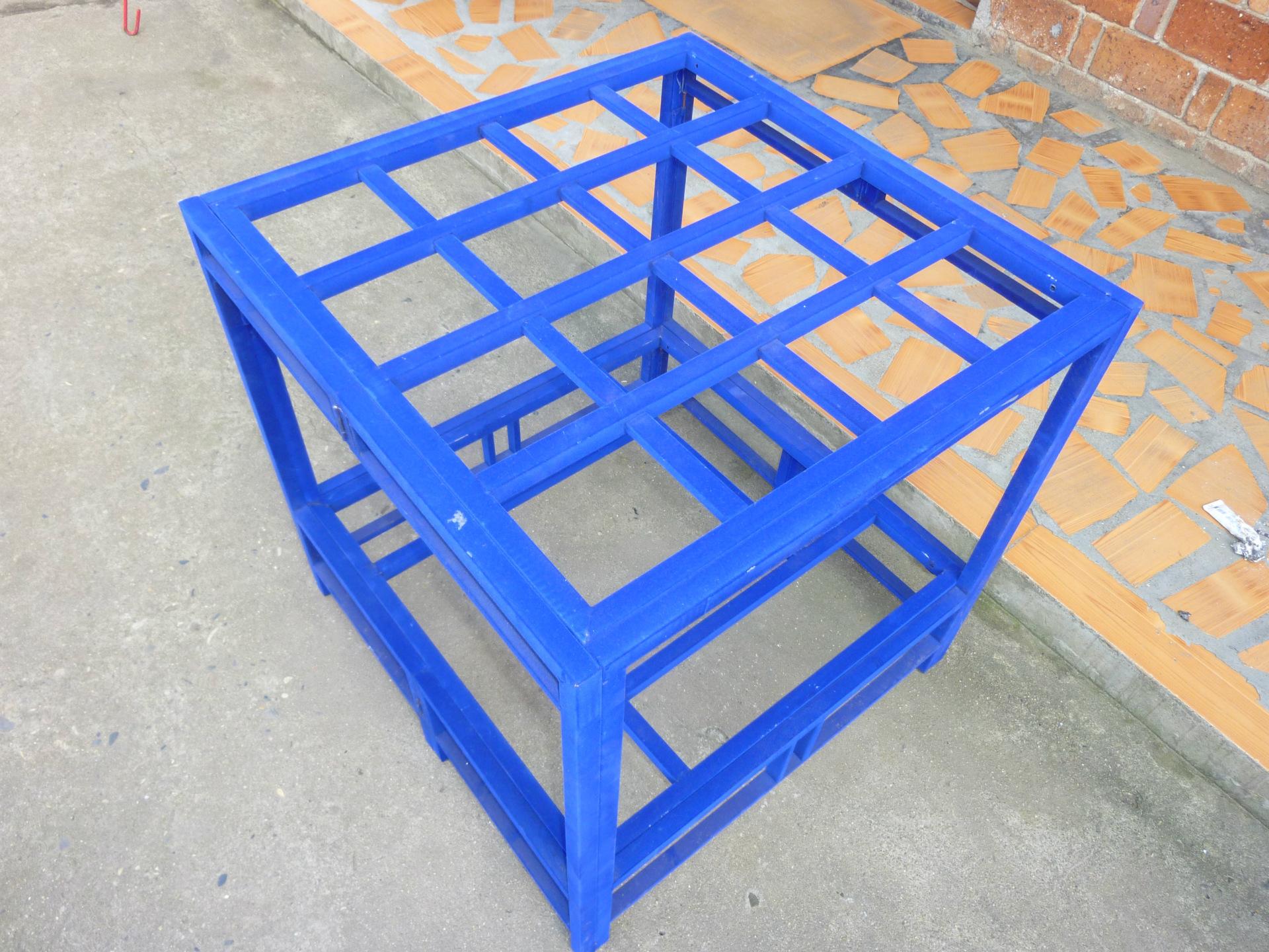明灯牌蓝色防烫金属绒烤火架(折叠式)