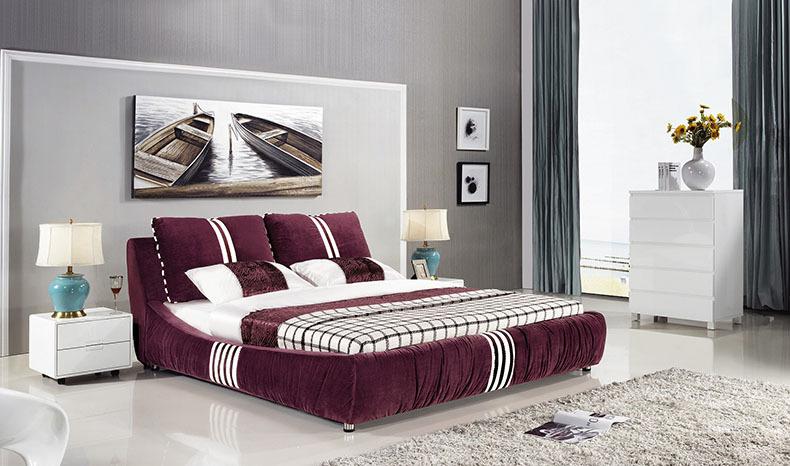厂家特价床 休闲时尚软床 双人布艺床