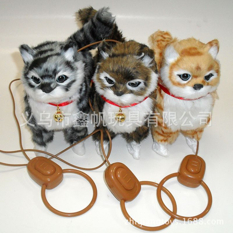 Pulling the strings cat, cat simulation, electric wholesale plush toys