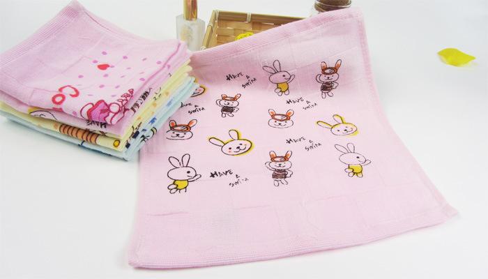 纱布印花小方巾10
