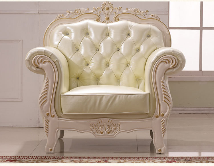 客厅实木沙发 欧式真皮沙发 手工描金实木规格订做 阿里巴巴