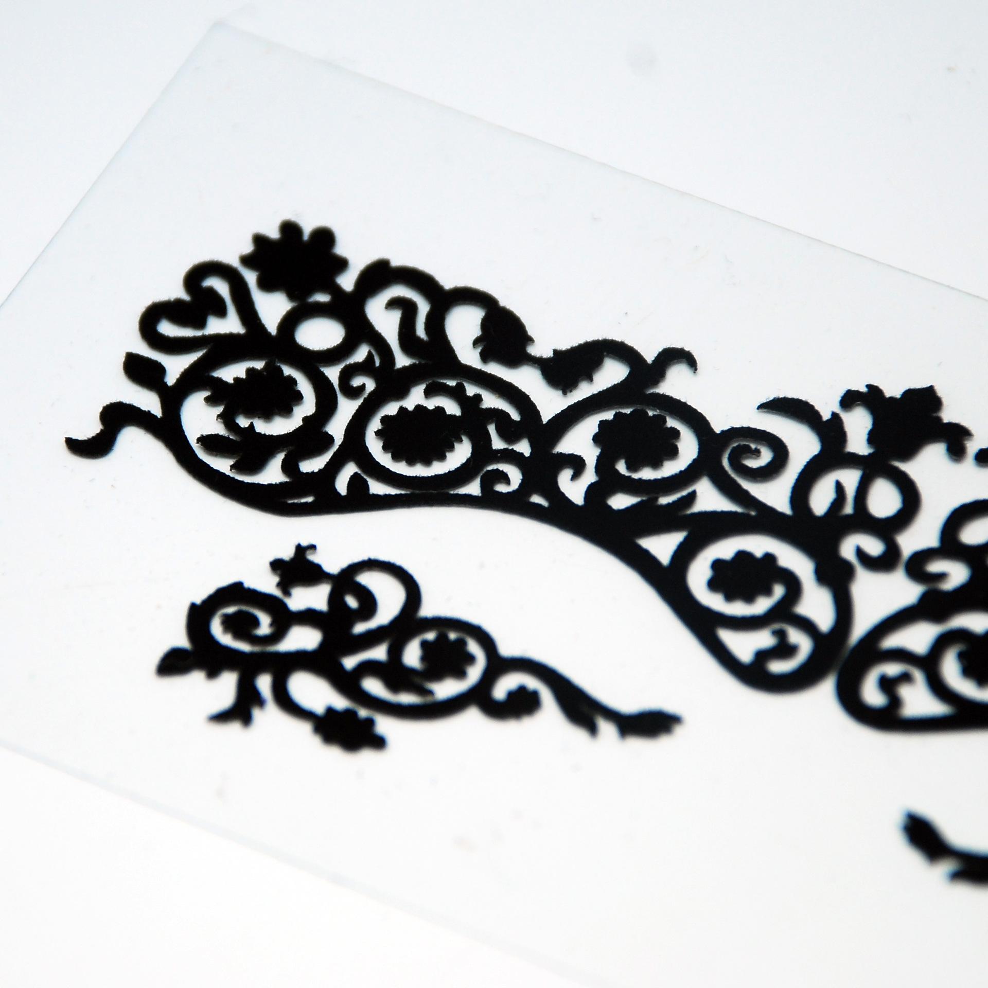 美丽时尚黑色碳纤维舞会眼贴 美丽时尚接受定做Y10