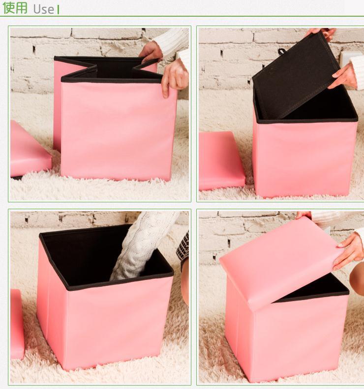 Ghế hộp hình vuông đựng đồ có thể gấp xếp