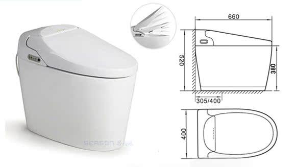 智能电脑马桶坐便器 即热型一体无水箱 静音节水 电子感应座便器图片_13
