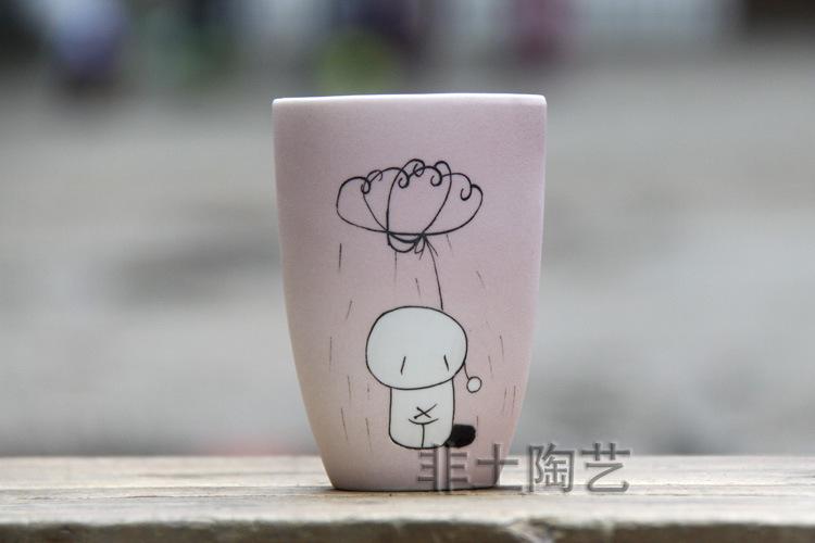 采购陶瓷工艺品 景德镇陶瓷工艺杯淋雨小