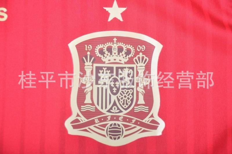 【批发2014世界杯西班牙主场红色球员版泰版