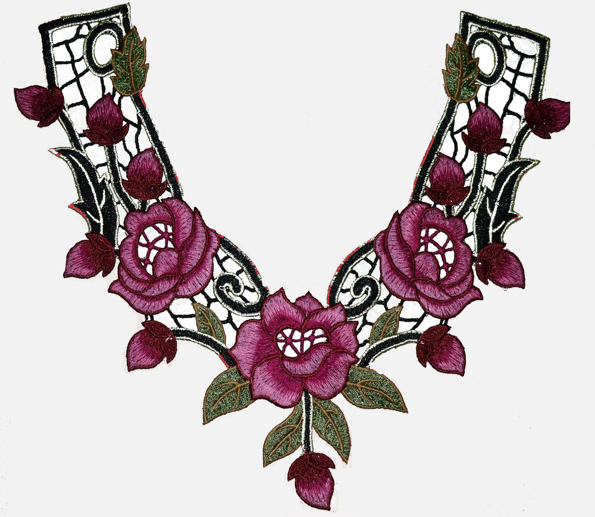供应批发刺绣花 收摇花边 手工花边领花、胸花