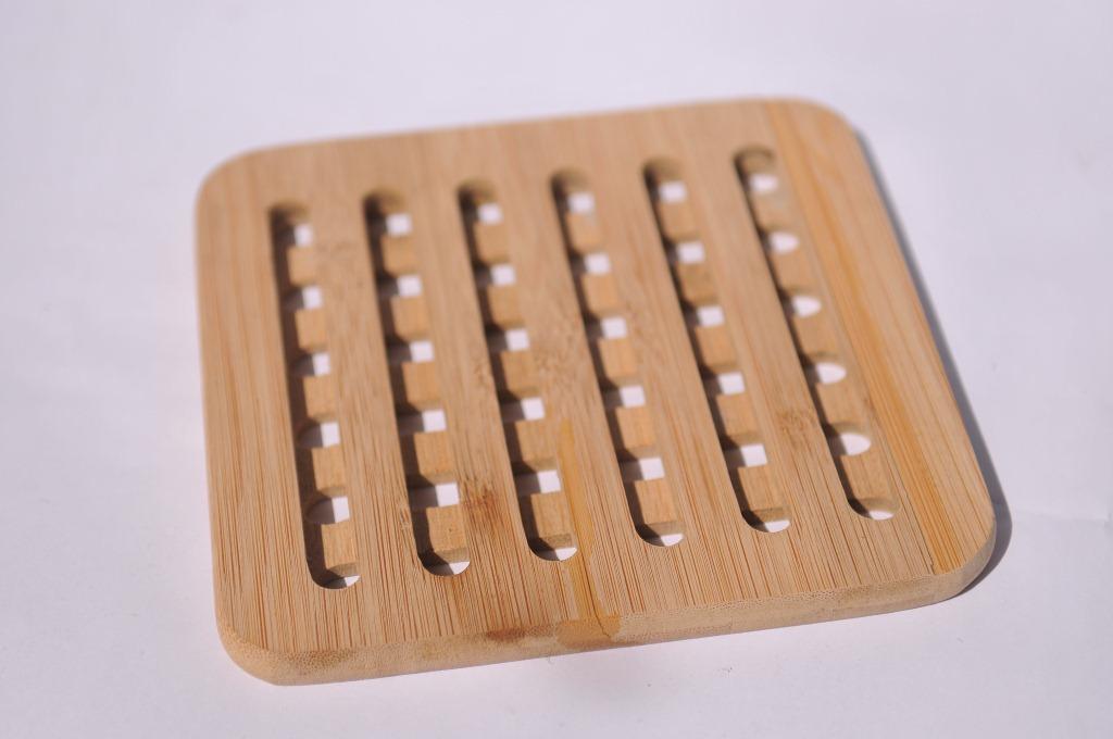 【工厂直供】隔热防烫 可印刷LOGO 楠竹锅垫 竹制餐垫 原竹杯垫