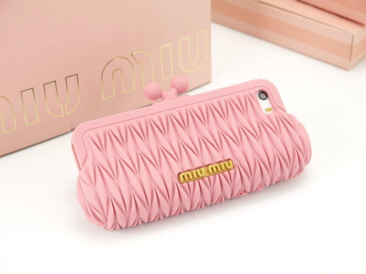 缪手 手机/正品时尚miumiu缪缪手拿包iPhone5s手机壳苹果5硅胶保护套 欧美...