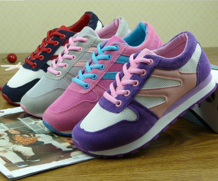 学生鞋_2014新款运动鞋春季系带平跟鞋学生鞋磨砂帆