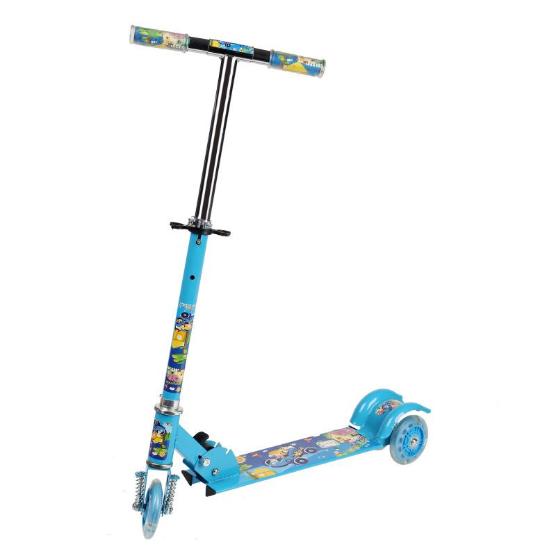 【儿童三轮滑板车脚踏滑板车闪光滑板车厂家批发】