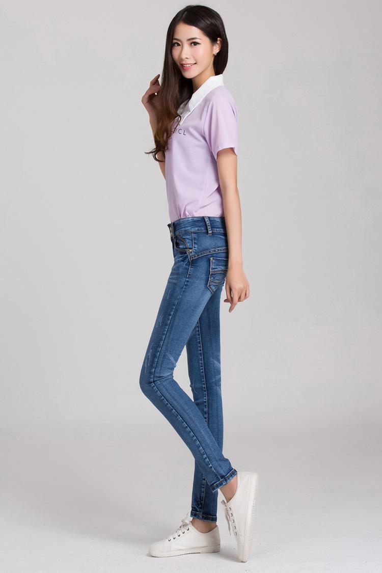 批发采购女式牛仔裤-九分牛仔裤女小脚裤子女