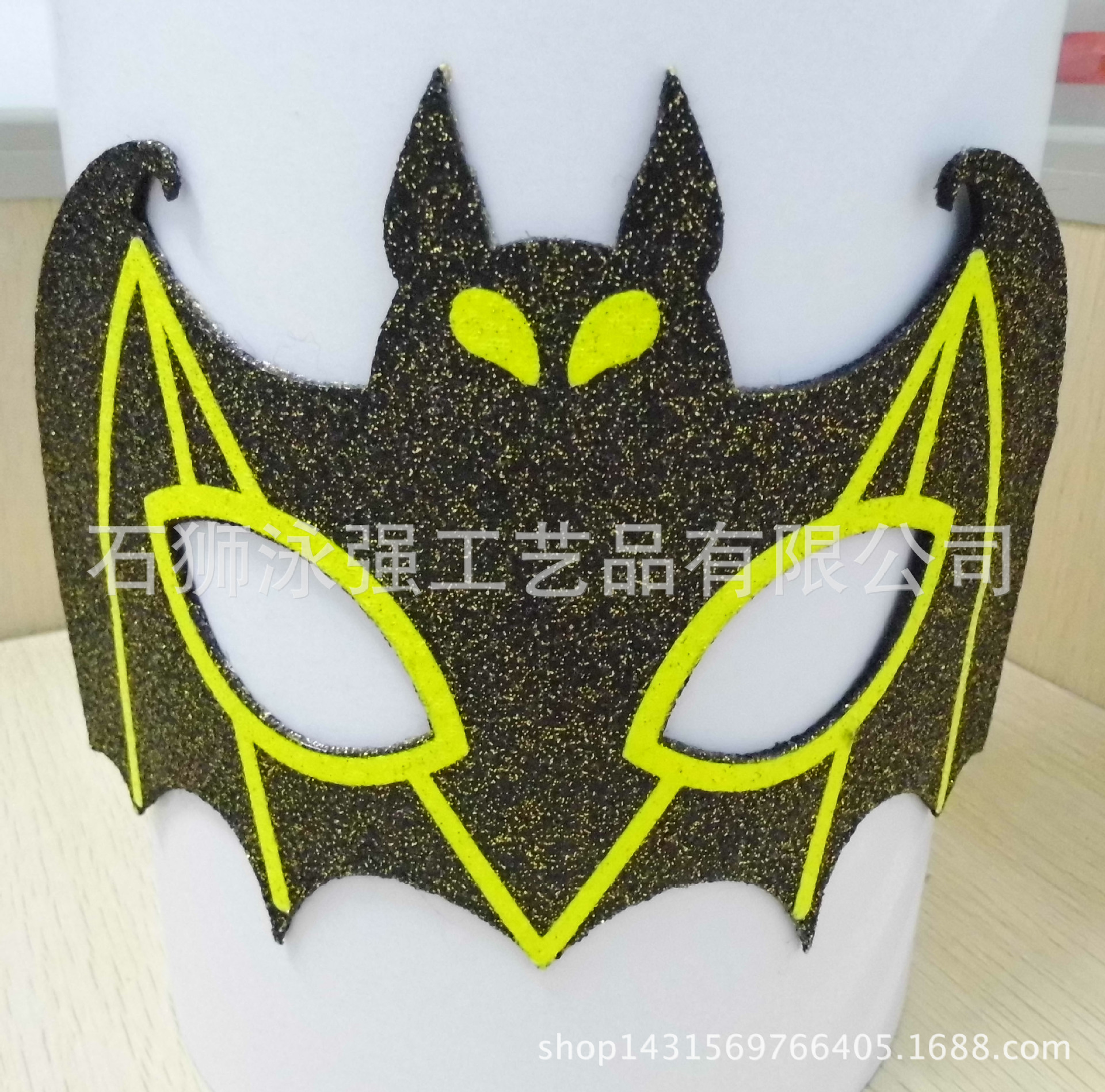 新款電影普通款蝙蝠面具黃色主題面具萬圣節化裝舞會表演布置道具