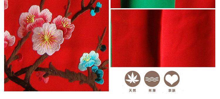 苏绣厂家直销女士生日婚庆民族风礼品天然手工刺绣桑蚕丝丝巾围巾图片