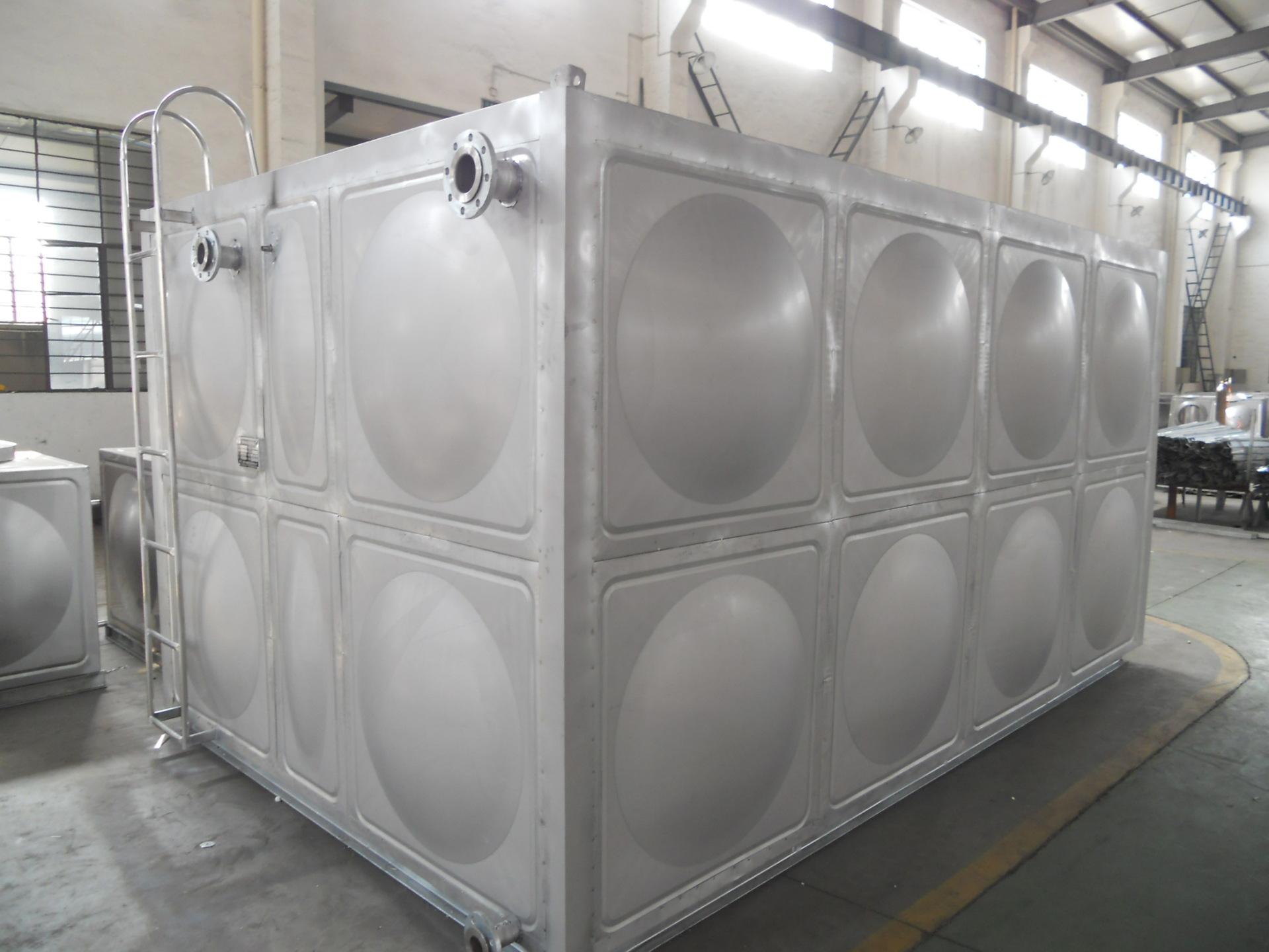 加工定制 不锈钢储水箱 批发不锈钢消防卧式方形水箱/生产