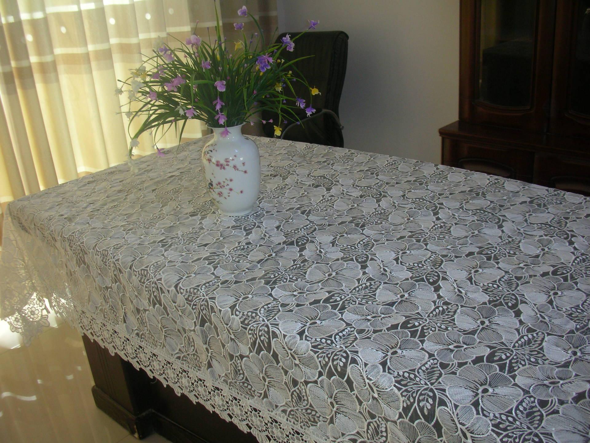 水溶花边 厂家销售各种绣花桌布 水溶花边 高档工艺品 阿里巴巴