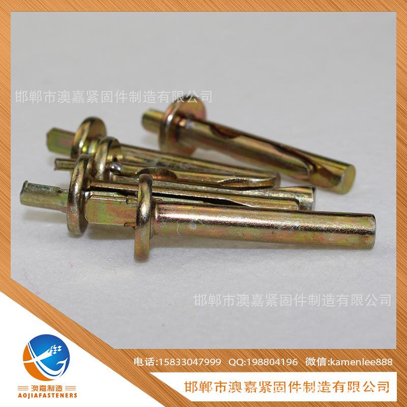 厂家直销 国标 紧固件连接件两片插片壁虎 打入式壁虎 插销