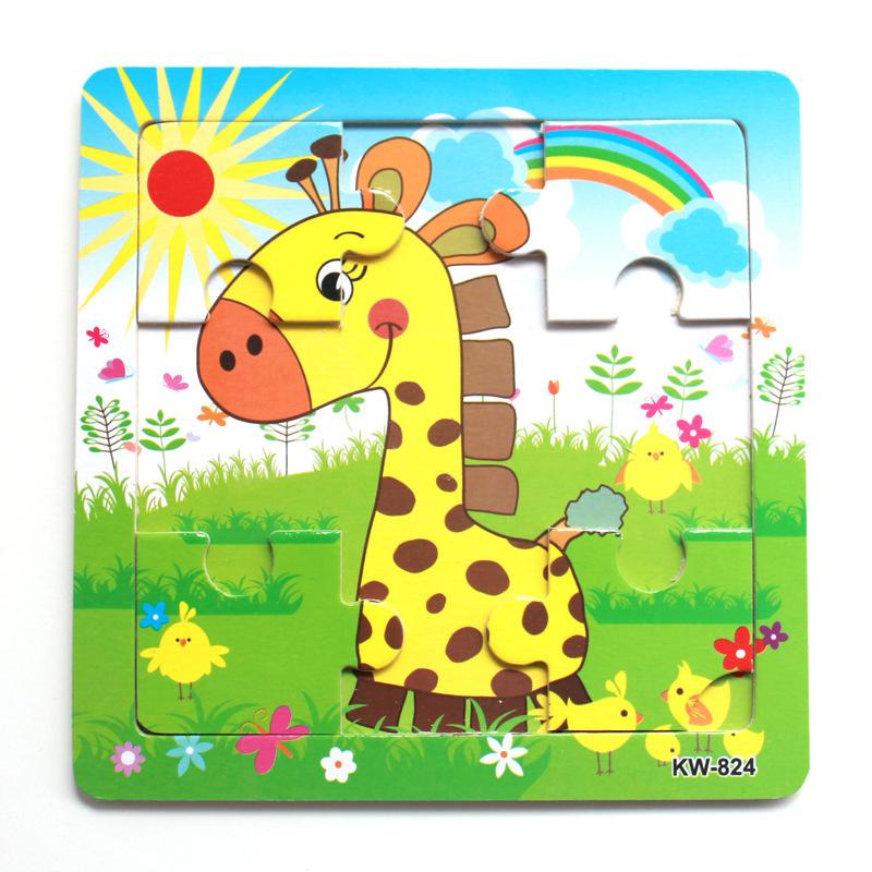 图拼板卡通动物玩具图片