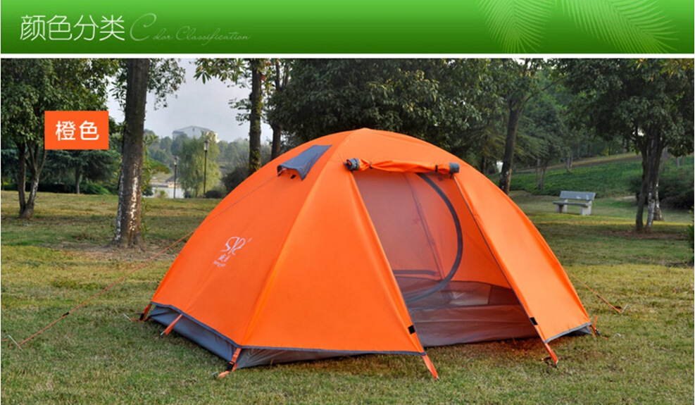 厂家直销 户外超轻双人铝杆专业户外帐篷 防风防暴雨一件代